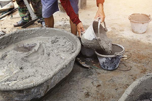 Teuta Overfilled Concrete Bucket